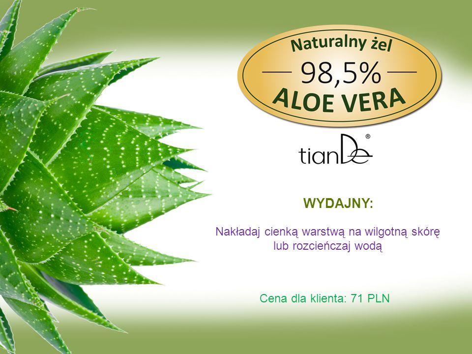 WYDAJNY: Nakładaj cienką warstwą na wilgotną skórę lub rozcieńczaj wodą Cena dla klienta: 71 PLN