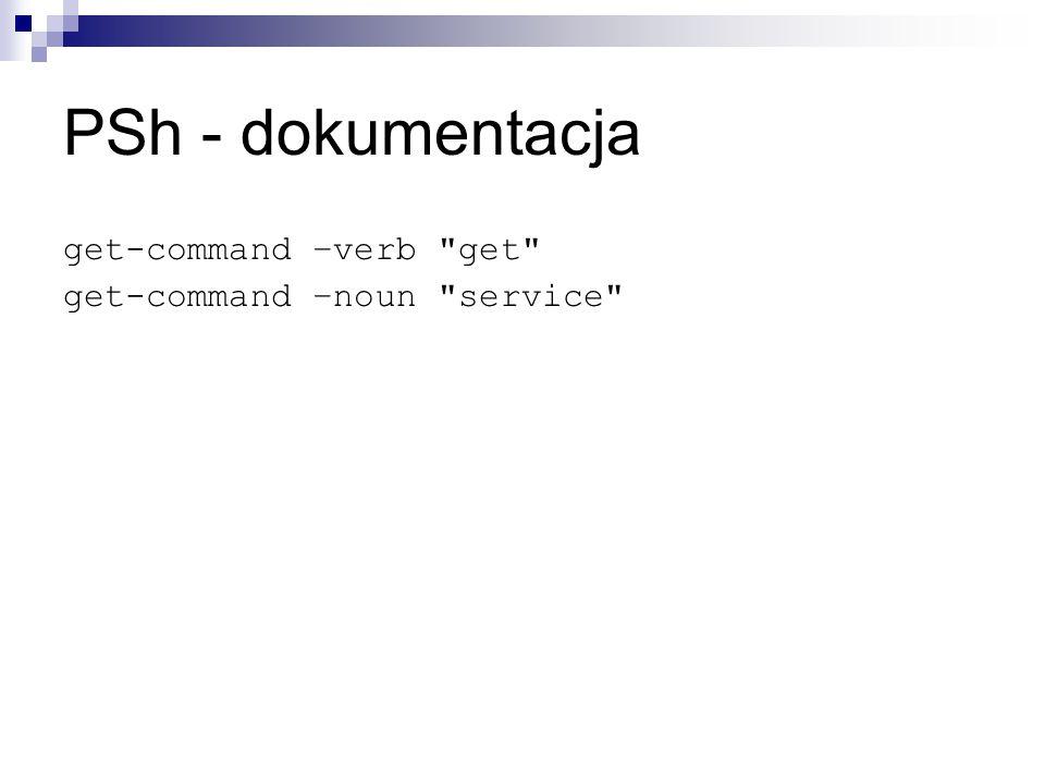 PSh - dokumentacja get-command –verb