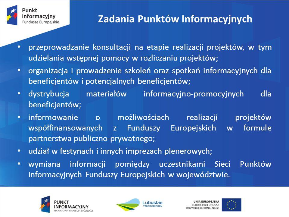 Główny Punkt Informacyjny Funduszy Europejskich Urząd Marszałkowski Województwa Lubuskiego w Zielonej Górze ul.