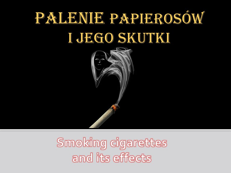 Cigarette - tobacco product consisting of a tube with a thin tissue (core) having a diameter of 1 cm and length of 12 cm (typically 85 mm), inside which there is a mixture comprising crafted tobacco leaves of different varieties of tobacco.