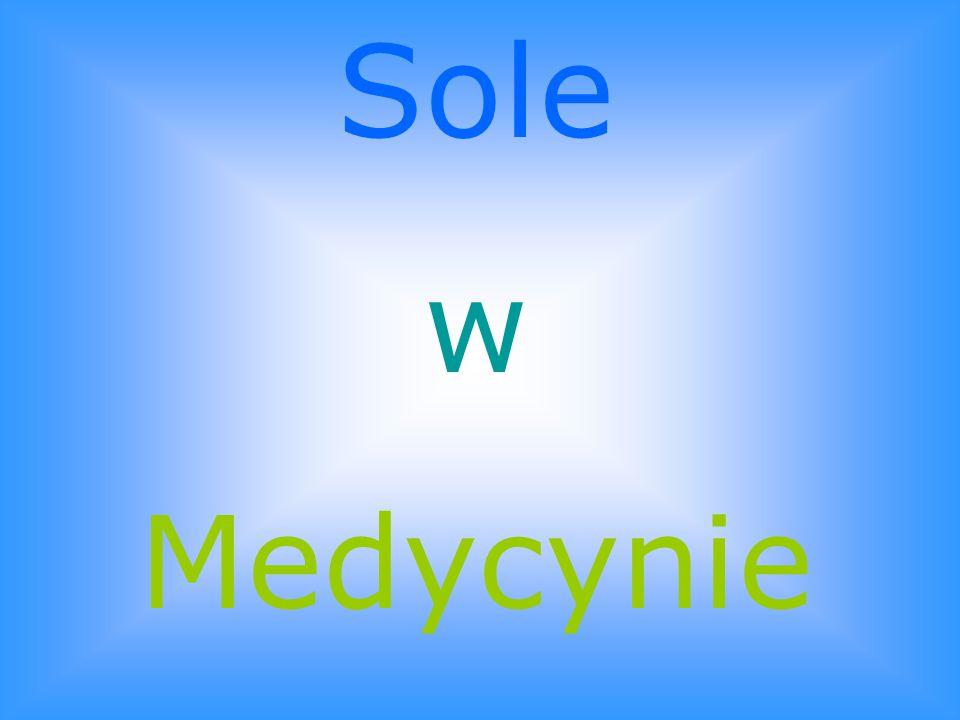 Sole w Medycynie