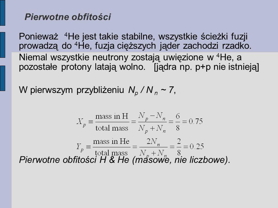 Ponieważ 4 He jest takie stabilne, wszystkie ścieżki fuzji prowadzą do 4 He, fuzja cięższych jąder zachodzi rzadko.
