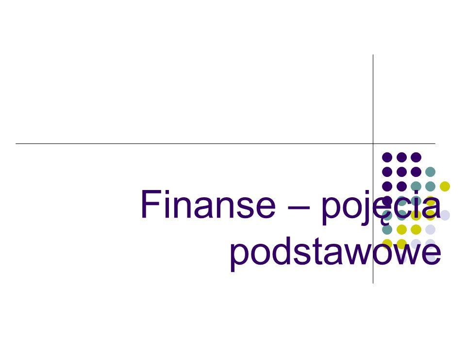 Finanse – pojęcia podstawowe