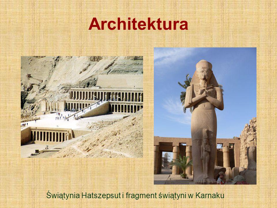 Architektura Świątynia Hatszepsut i fragment świątyni w Karnaku
