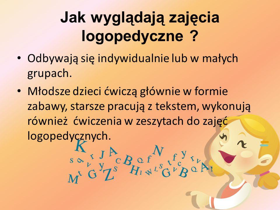 Ćwiczenia artykulacji danej głoski Ćwiczenie prawidłowego brzmienia głoski w sylabach, różnych pozycjach wyrazu, połączeniach wyrazowych, zdaniach, mowie spontanicznej.