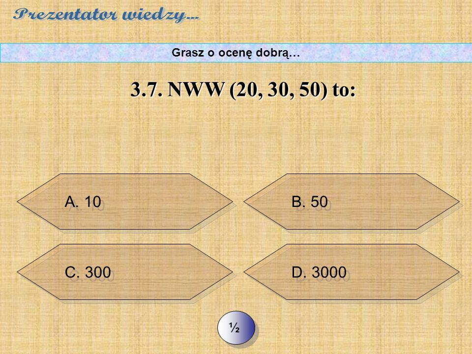 """C. x = x + ½ x >> 3.6. Które działanie opisuje zadanie: """"Cegła waży kilogram i pół cegły. Ile waży cegła?"""" Grasz o ocenę dobrą… B. x = 1 + ½ x"""