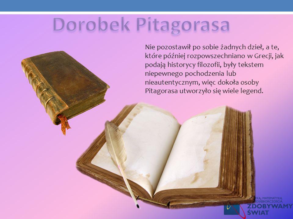 Nie pozostawił po sobie żadnych dzieł, a te, które później rozpowszechniano w Grecji, jak podają historycy filozofii, były tekstem niepewnego pochodze