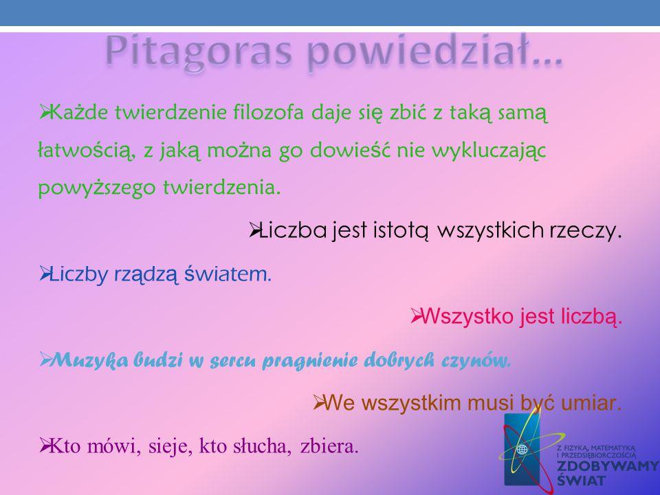 Pitagoras założył szkołę w Krotonie.Nazywano ją szkołą pitagorejczyków.