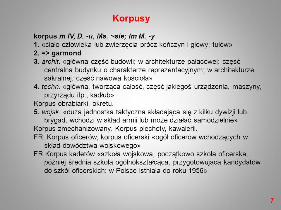 –38 Części mowy (klasy fleksyjne)