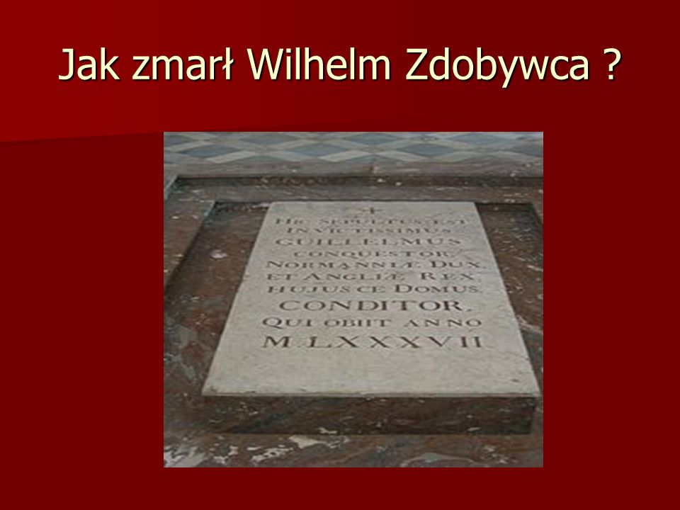 Śmierć Wojna z pierworodnym synem trwała od 1077 do 1080 roku i zakończyła się ugodą.