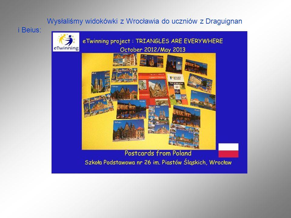 Wysłaliśmy widokówki z Wrocławia do uczniów z Draguignan i Beius: