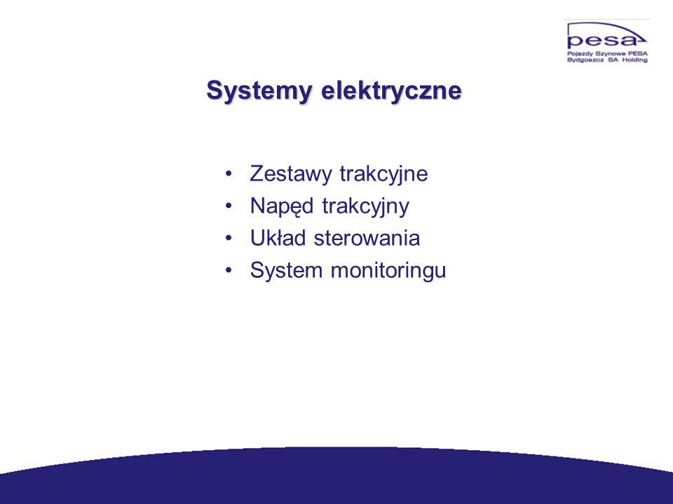 Systemy elektryczne Zestawy trakcyjne Napęd trakcyjny Układ sterowania System monitoringu