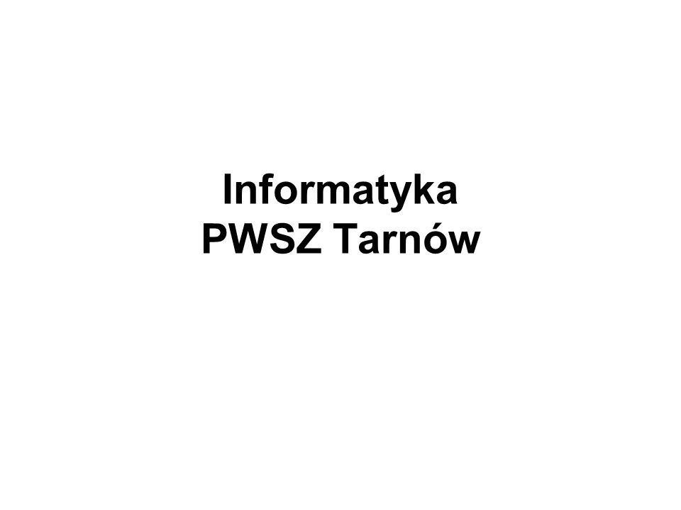 Informatyka PWSZ Tarnów