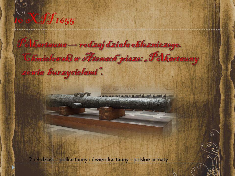 2 i 4 działa - połkartauny i ćwierckartauny - polskie armaty