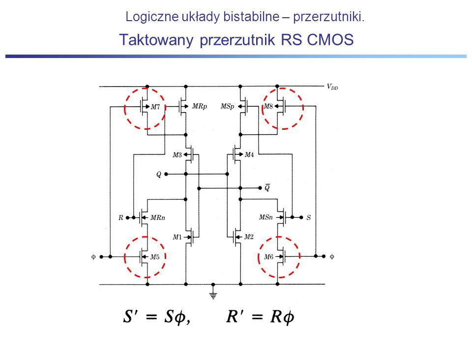 Taktowany przerzutnik RS CMOS Logiczne układy bistabilne – przerzutniki.