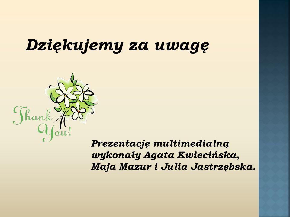 Prezentację multimedialną wykonały Agata Kwiecińska, Maja Mazur i Julia Jastrzębska.