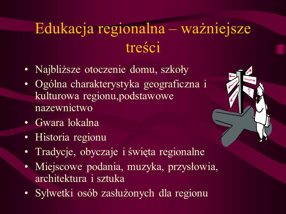 Wychowanie patriotyczne i obywatelskie Godło i hymn państwowy Utwory literackie, filmy i pieśni patriotyczne Lokalne miejsca pamięci narodowej Sylwetk