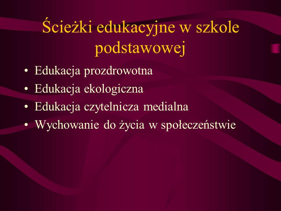 W celu integracji wiedzy nauczanej w szkole podstawowej wprowadzono: W celu integracji wiedzy nauczanej w szkole podstawowej wprowadzono: Kształcenie