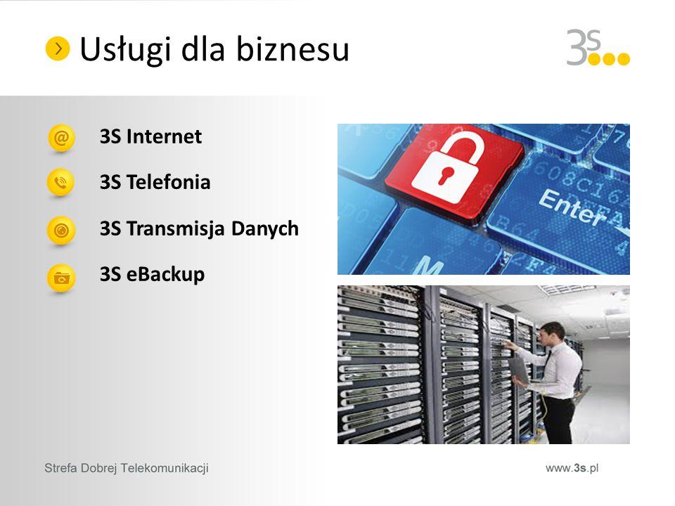 3S Internet 3S Telefonia 3S Transmisja Danych 3S eBackup Usługi dla biznesu