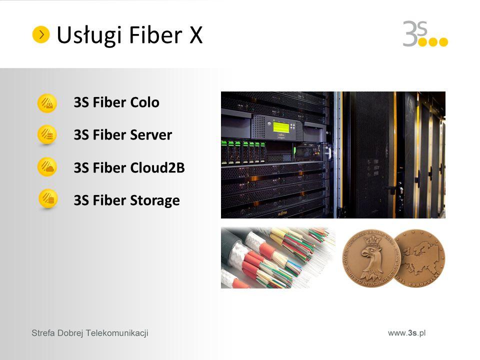 3S Fiber Colo 3S Fiber Server 3S Fiber Cloud2B 3S Fiber Storage Usługi Fiber X