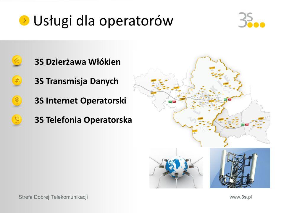 3S Dzierżawa Włókien 3S Transmisja Danych 3S Internet Operatorski 3S Telefonia Operatorska Usługi dla operatorów