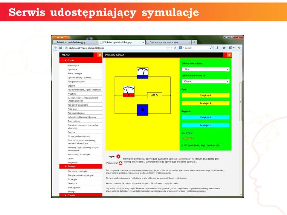 Serwis udostępniający symulacje informatyka + 5