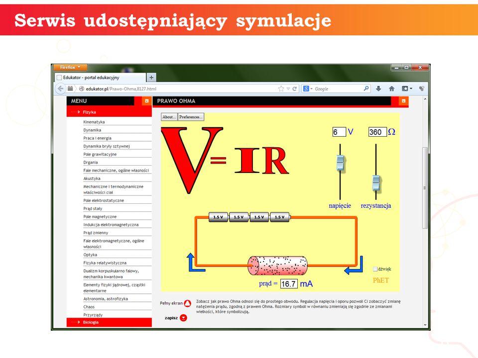 Serwis udostępniający symulacje informatyka + 6
