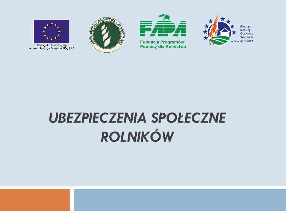 Ubezpieczenia społeczne rolników - składki  Z faktu objęcia ubezpieczeniem społecznym rolników wynika obowiązek cokwartalnego opłacania składek.