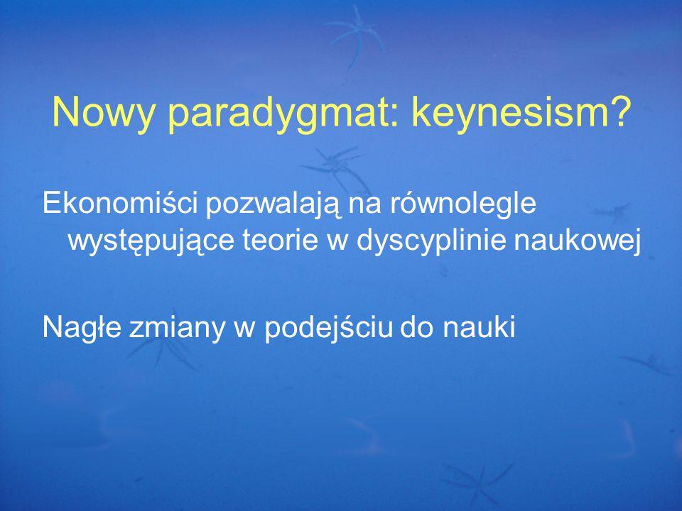 Nowy paradygmat: keynesism.