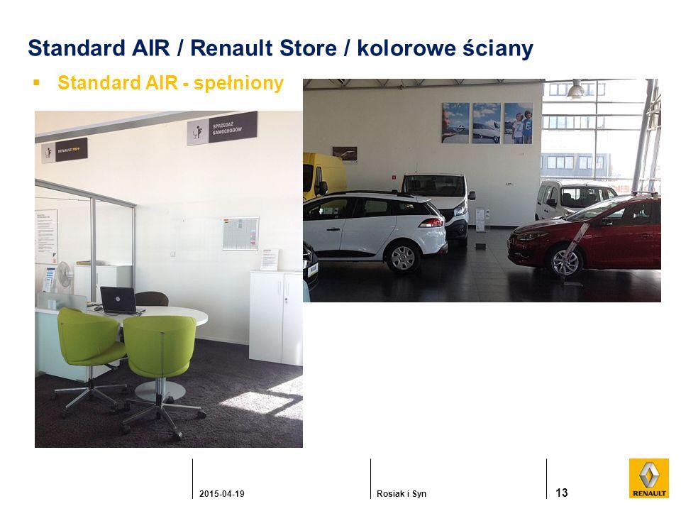 Standard AIR / Renault Store / kolorowe ściany  Standard AIR - spełniony 13 2015-04-19Rosiak i Syn