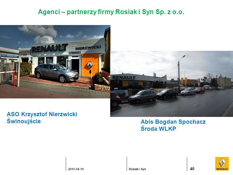 40 2015-04-19Rosiak i Syn Agenci – partnerzy firmy Rosiak i Syn Sp.