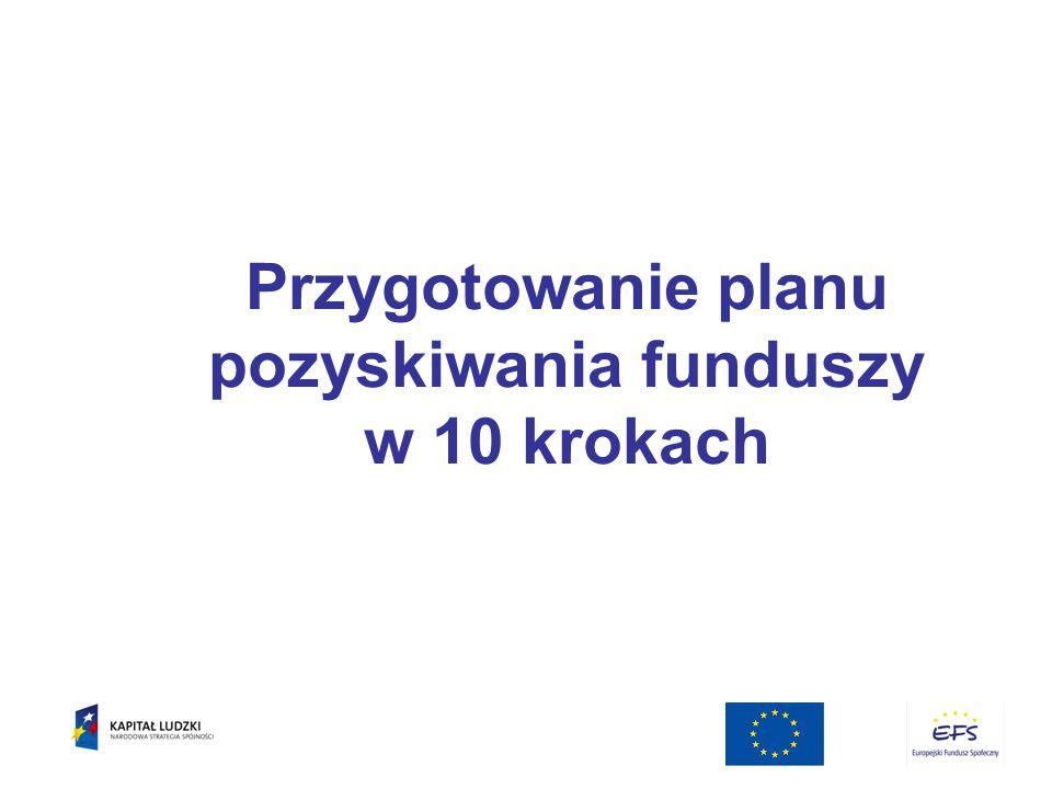 Przygotowanie planu pozyskiwania funduszy w 10 krokach