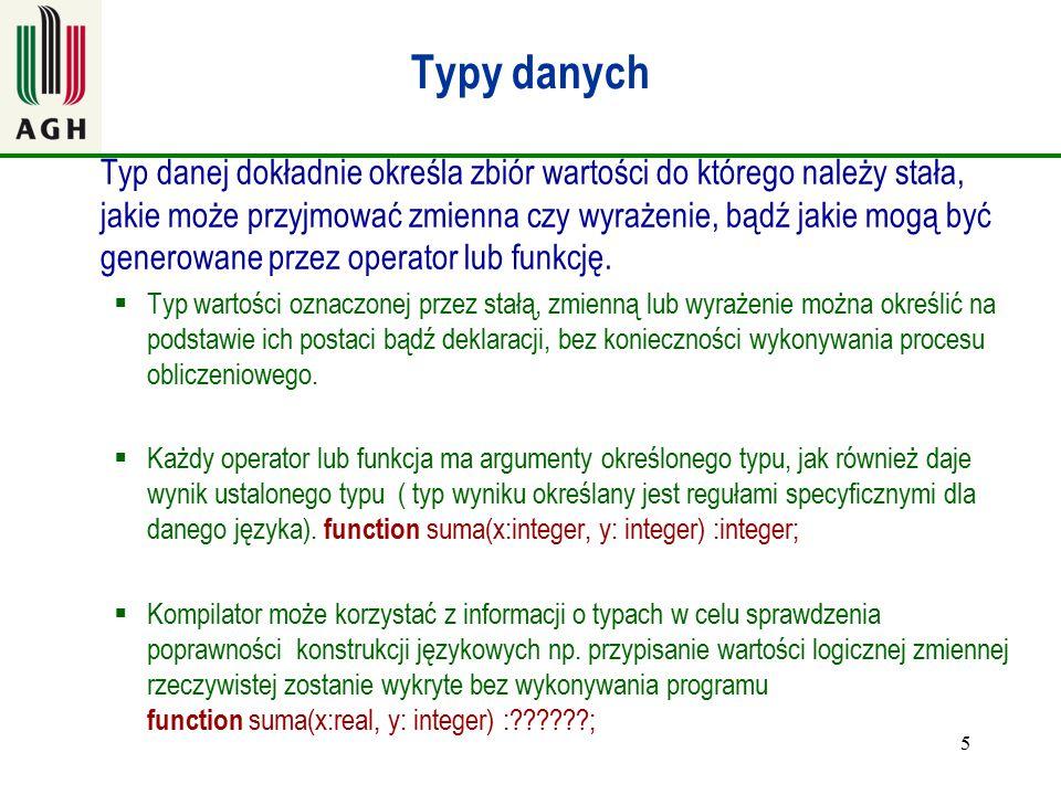 Char w Turbo Pascal program znaki; var imie: array[1..10] of char; nazwisko: array[1..10] of char; ImieNazwisko: array[1..15] of char; 16 begin imie:= Jan ; nazwisko:= Kowalski ; ImieNazwisko:=imie + nazwisko; ImieNazwisko[10]:= X ; writeln(ImieNazwisko); readln; end.