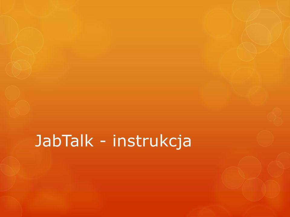 JabTalk - instrukcja
