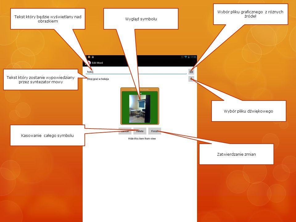 Wybieranie źródła pliku graficznego Wstaw obrazek z pamięci urządzenia – np.
