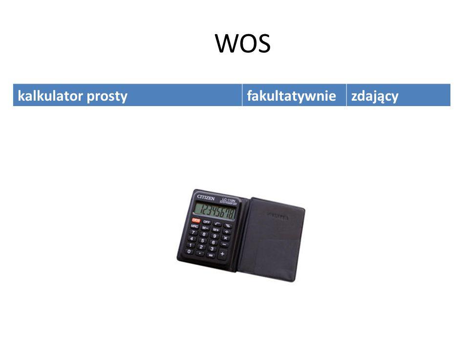 WOS kalkulator prostyfakultatywniezdający