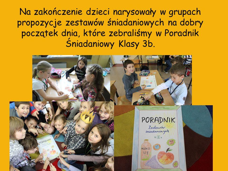 Dzięki akcji dzieci zrozumiały, jak ważne jest śniadanie, utrwaliły sobie poznane wcześniej wiadomości odnośnie zdrowego stylu życia, a przede wszystkim świetnie się bawiły Opracowała: Justyna Gremblewska