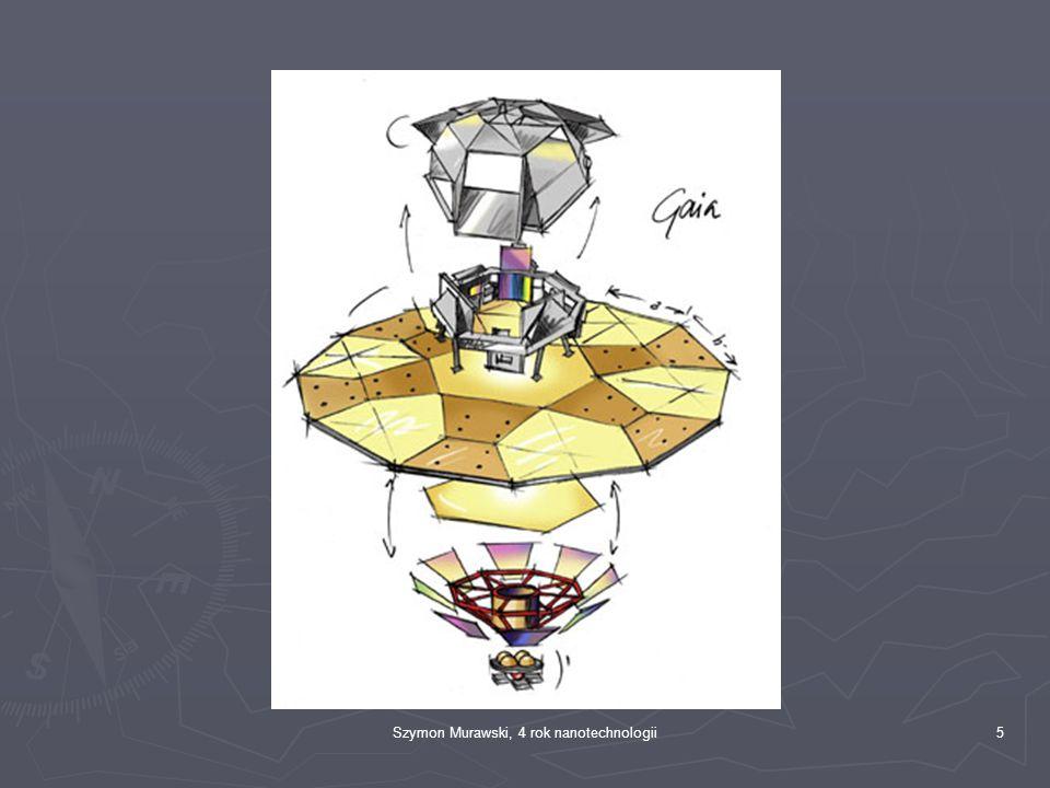 """6 Moduł """"użyteczny ► Centrum zbierania informacji, składa się z dwóch teleskopów i trzech systemów pomiarowych: ► Fotometryczny, mierzący jasność i kolor gwiazd ► Spektroskopowy, określający czy obiekt porusza się do nas, czy od nas ► Astrometryczny, mierzący położenie obiektu"""