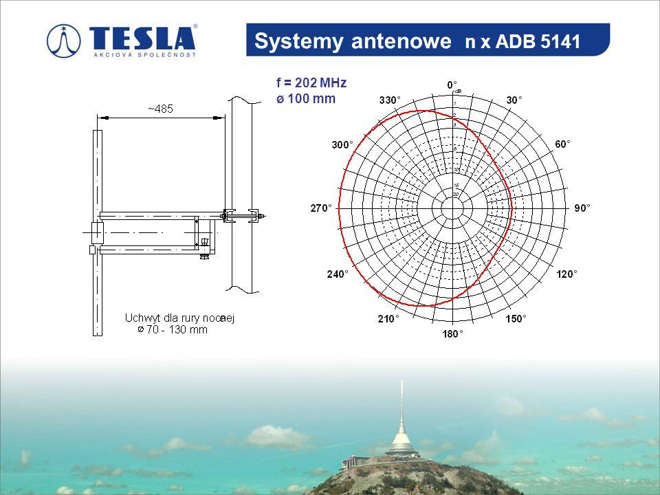 Systemy antenowe n x ADB 5141 f = 202 MHz ø 100 mm