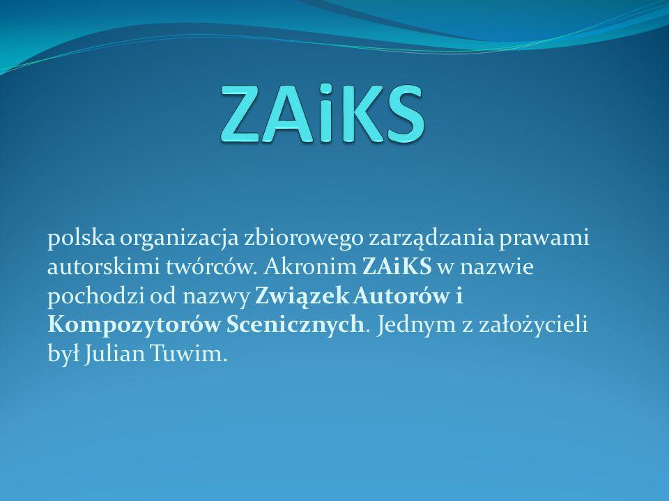 polska organizacja zbiorowego zarządzania prawami autorskimi twórców.