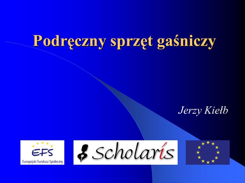 Podręczny sprzęt gaśniczy Jerzy Kiełb