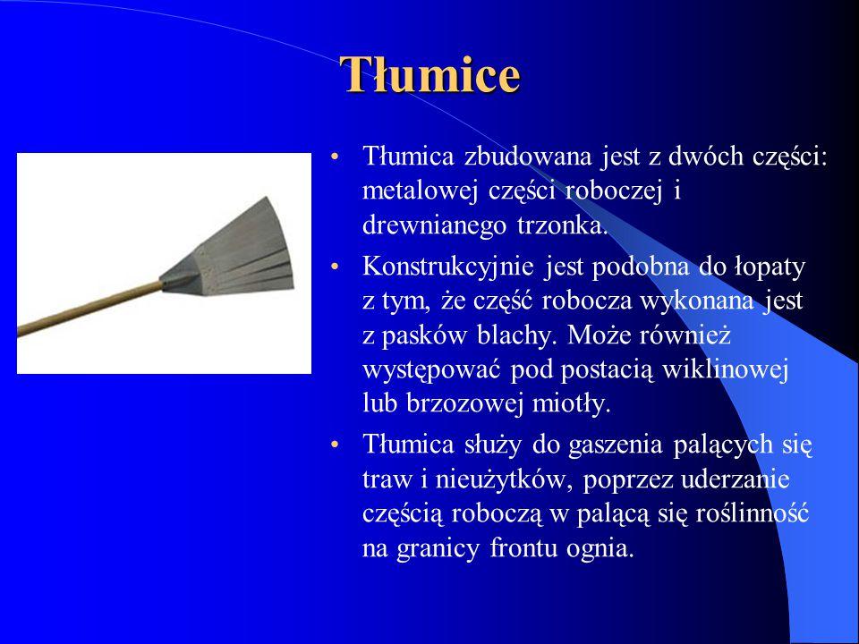 Tłumice Tłumica zbudowana jest z dwóch części: metalowej części roboczeji drewnianego trzonka.