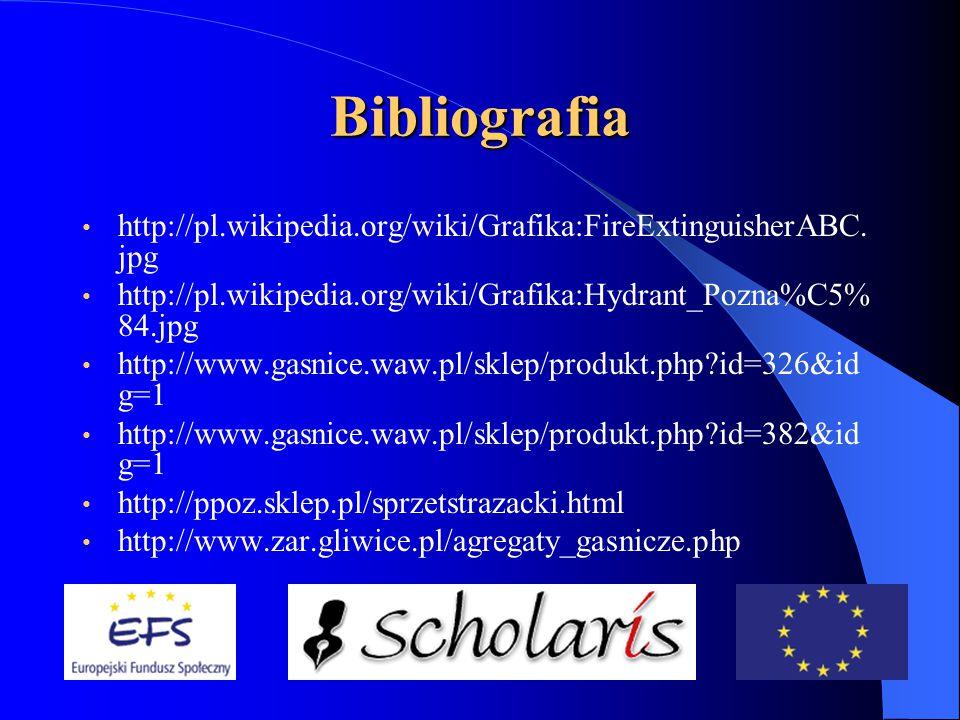 Bibliografia http://pl.wikipedia.org/wiki/Grafika:FireExtinguisherABC.
