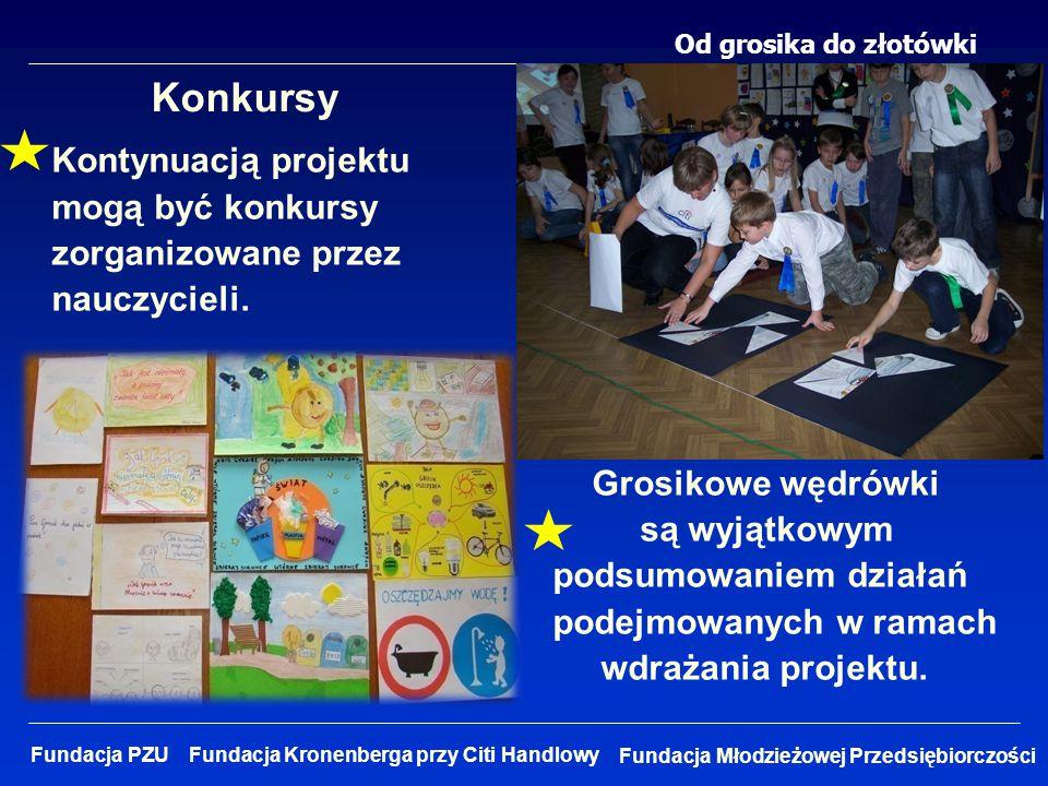 Od grosika do złotówki Fundacja Młodzieżowej Przedsiębiorczości Fundacja PZU Fundacja Kronenberga przy Citi Handlowy Konkursy Kontynuacją projektu mog