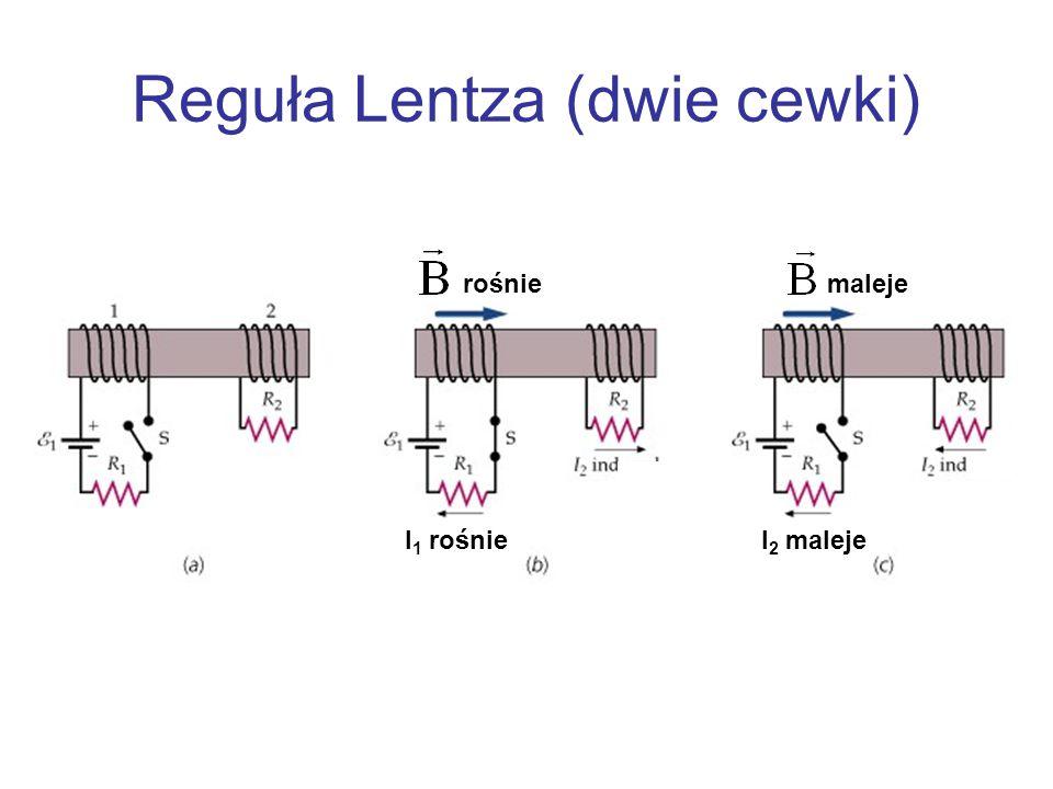Reguła Lentza (dwie cewki) I 1 rośnieI 2 maleje rośniemaleje