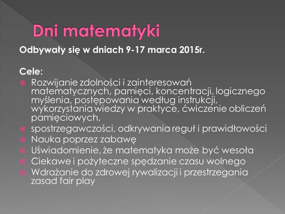 Odbywały się w dniach 9-17 marca 2015r.