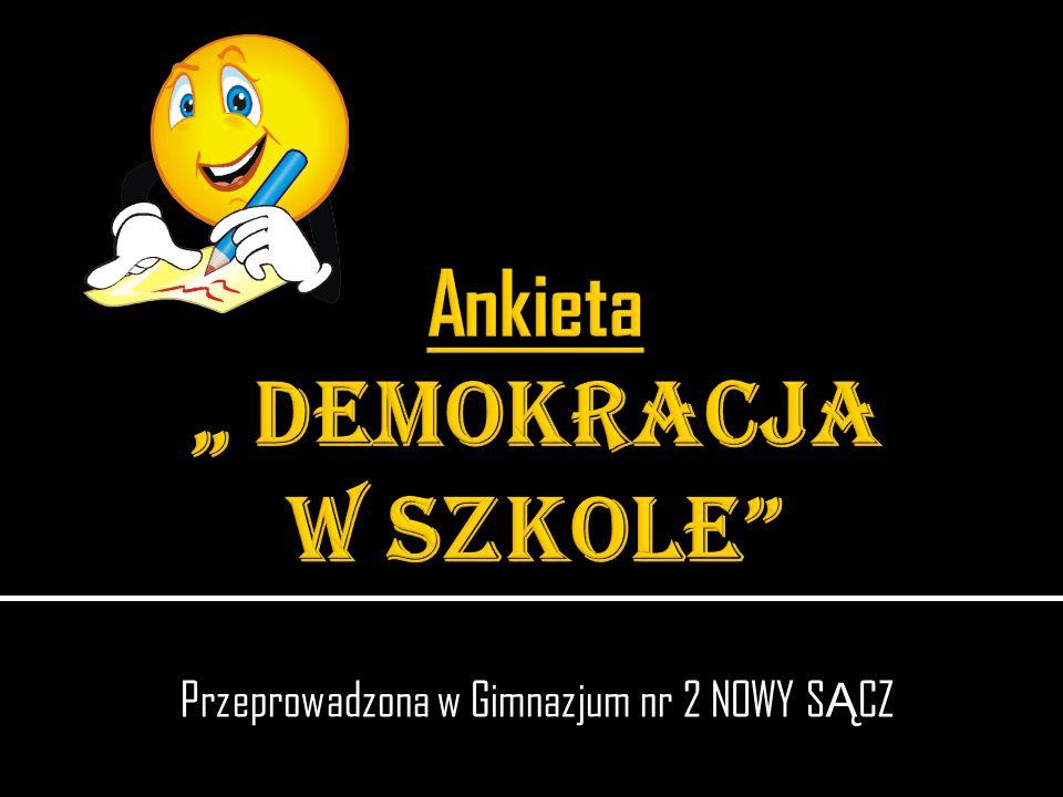 Przeprowadzona w Gimnazjum nr 2 NOWY S Ą CZ