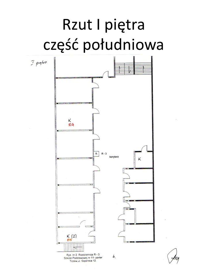 Rzut II piętra część północna