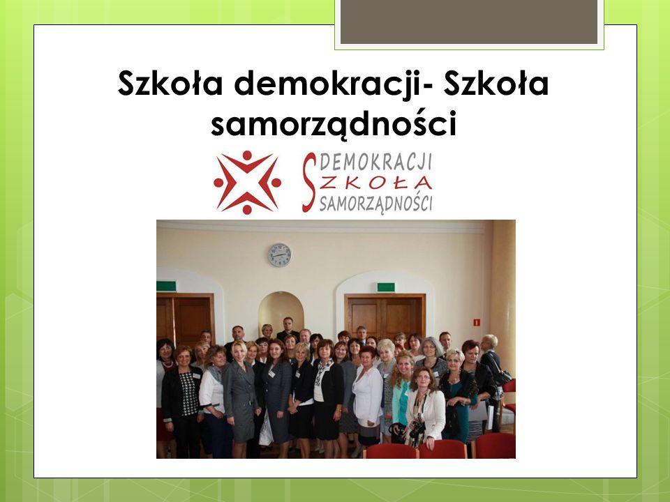 Szkoła demokracji- Szkoła samorządności