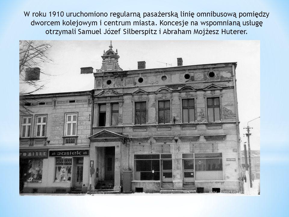 W roku 1910 uruchomiono regularną pasażerską linię omnibusową pomiędzy dworcem kolejowym i centrum miasta.